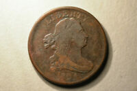 1804 DRAPED BUST HALF CENT PLAIN 4 STEMLESS WREATH