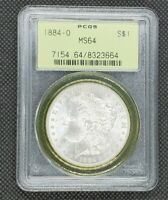1884-O MORGAN DOLLAR | PCGS MINT STATE 64 OLD GREEN HOLDER OGH