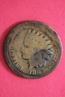 1864 BRONZE INDIAN HEAD CENT PENNY EXACT COIN SHOWN FLAT RATE SHIPPING OCE 17