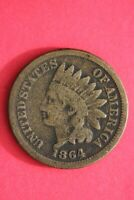 1864 CN INDIAN HEAD CENT PENNY EXACT COIN SHOWN FLAT RATE SHIPPING OCE 24