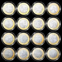 BRAZIL SET 16 PCS 1 REAL 2016 OLYMPICS GAMES IN RIO COINS UNC