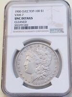 1900-O/CC VAM-7 UNC DETAILS MORGAN DOLLAR TOP 100 SUPER  MINT STATE CLEANED
