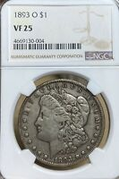 1893-O NGC VF25 MORGAN SILVER DOLLAR