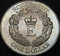 NEW ZEALAND 1 DOLLAR 1986   ROYAL VISIT   AUNC   1708