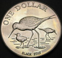 NEW ZEALAND 1 DOLLAR 1985   BLACK STILT   AUNC   1704