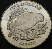 NEW ZEALAND 1 DOLLAR 1986   KAKAPO BIRD   AUNC   1712