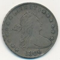 1806 DRAPED BUST SILVER HALF DOLLAR-POINTED 6-STRONG DETAILS  SHIPS FREE