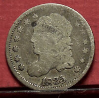 1835 CAPPED BUST HALF DIME OLD U.S. COIN COLLECTION