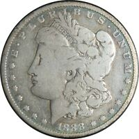 1888-O $1 MORGAN SILVER DOLLAR GOOD/VG DETAILS CLEANED / CULL COND. 041021062