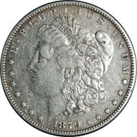 1879-P $1 MORGAN SILVER DOLLAR VF DETAILS CLEANED / CULL COND. 041021071
