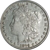 1879-P $1 MORGAN SILVER DOLLAR EXTRA FINE  DETAILS CLEANED / CULL CONDITION 041021099