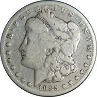 1885-S $1 MORGAN SILVER DOLLAR GOOD DETAILS CLEANED / CULL CONDITION 041021101