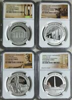 2015 AMERICA'S NATIONAL MONUMENTS NIUE 4 PC SET 1 OZ SILVER