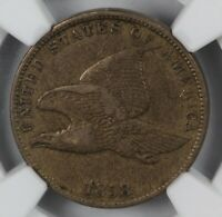 NGC EXTRA FINE 40 1858 FLYING EAGLE SMALL LETTERS US CENT 1C