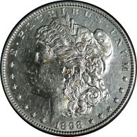 1898-P $1 MORGAN SILVER DOLLAR AU DETAILS  CLEANED / CULL CONDITION 041221009