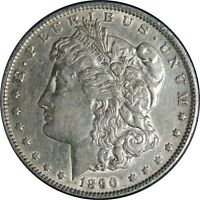 1890-P $1 MORGAN SILVER DOLLAR EXTRA FINE  DETAILS  CLEANED / CULL CONDITION 041221013