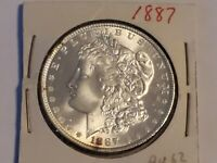 1887 MORGAN SILVER DOLLAR BU. SEE PICTURES.