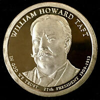 2013 S WILLIAM HOWARD TAFT PROOF DOLLAR COIN, DEEP CAMEO GEM QUALITY - US MINT