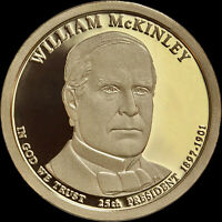 2013 S WILLIAM MCKINLEY PROOF DOLLAR COIN, DEEP CAMEO GEM QUALITY FROM US MINT