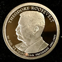 2013 S THEODORE ROOSEVELT PROOF DOLLAR COIN, DEEP CAMEO GEM QUALITY - US MINT