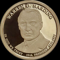 2014 S WARREN G HARDING PROOF DOLLAR COIN, DEEP CAMEO GEM QUALITY FROM US MINT