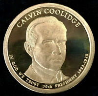 2014 S CALVIN COOLIDGE PROOF DOLLAR COIN, DEEP CAMEO GEM QUALITY - FROM US MINT