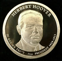2014 S HERBERT HOOVER PROOF DOLLAR COIN, DEEP CAMEO GEM QUALITY - FROM US MINT