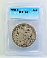 1895 S SAN FRANCISCO MORGAN SILVER DOLLAR ICG G6 C20