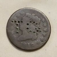 TO  COUNTERMARK MERCHANT TRADE TOKEN 1812 US CLASSIC TURBAN COPPER LARGE CENT