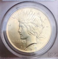 1923 PEACE DOLLAR PCGS MINT STATE 62 BEAUTIFUL GOLD TONED