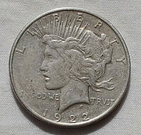 1922-P PEACE DOLLAR BETTER SILVER $1 COIN US CURRENCY COLLECTIBLE LOT 12521