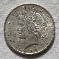 1922-S LIBERTY PEACE DOLLAR SILVER $1 COIN US CURRENCY COLLECTIBLE