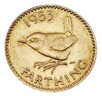 1953 ELIZABETH II FARTHING MINT CONDITION TOP COIN/UNC FROM