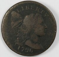 1796 LIBERTY CAP EARLY US COPPER LARGE CENT 1C