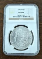 1882-S NGC MINT STATE 65 MORGAN SILVER DOLLAR UNDER GRADED BEAUTY