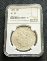 1888 P MORGAN DOLLAR NGC MINT STATE 65 FLAWLESS EXAMPLE