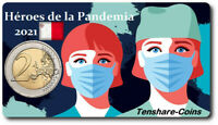 2021 MALTA  2 EURO COINCARD HEROES OF THE PANDEMIC PRESALE R