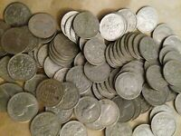 100 VARIOUS SIXPENCES BULK LOT OF OLD ENGLISH COINS SEE PHOT