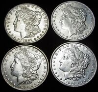 1890 1890-S 1891-S 1897 MORGAN DOLLAR SILVER US COIN ---- LOT OF 4 ---- M766