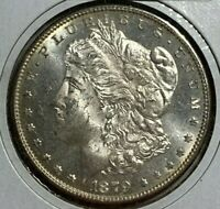 1879 S REVERSE OF 1879 UNC MS MORGAN SILVER US DOLLAR $1
