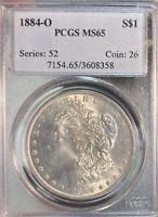 1884-O PCGS MINT STATE 65 MORGAN SILVER DOLLAR