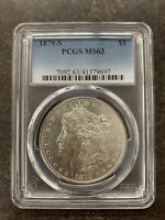 1879-S PCGS MINT STATE 63 MORGAN SILVER DOLLAR $1 UNITED STATES