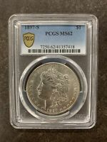 1897-S PCGS MINT STATE 62 MORGAN SILVER DOLLAR $1 UNITED STATES