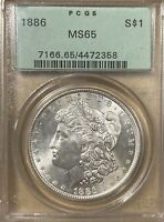 1886 OGH PCGS MINT STATE 65 MORGAN SILVER DOLLAR