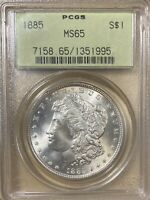 1885 OGH PCGS MINT STATE 65 MORGAN SILVER DOLLAR