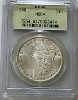 1900 MORGAN SILVER DOLLAR PCGS MINT STATE 64 OGH OLD GREEN HOLDER - SHIPS FREE