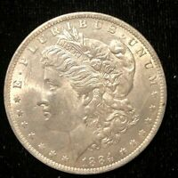 1884-O  MORGAN DOLLAR  AU/UNC     AS