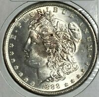 1888 DOUBLED EAR CLASHED OBV. IN VAM-11A R-5 TOP 100 UNC MS MORGAN US DOLLAR $1