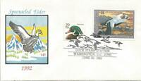 RW59 $15.00 SPECTACLED EIDER DUCK STAMP FDC   HOUSE OF FARNA