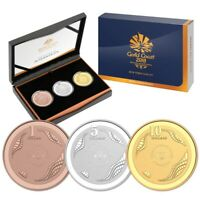 2018 RAM 3 COIN SET   GOLD COAST COMMONWEALTH GAMES PROOF CO
